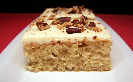 Banana Bars with Browned Butter Pecan Frosting