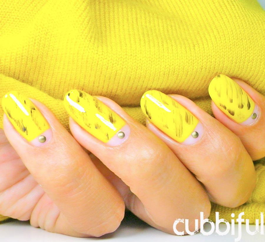 31DC2014 yellow nails matching my outfit