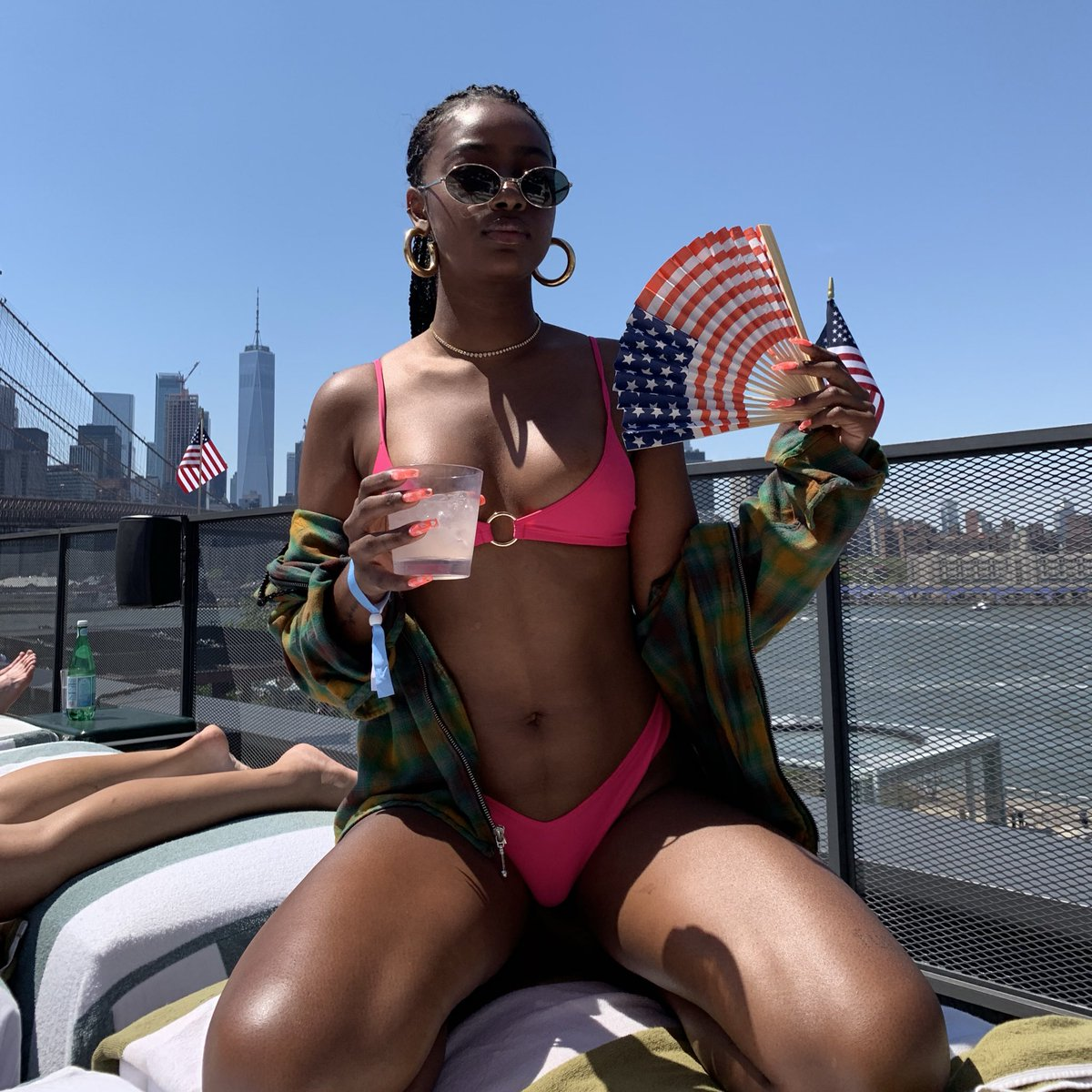 Justine Skye Shares Stunning Photos on July 4th celebration