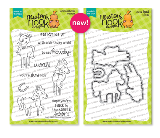 Neigh Stamp Set and Neigh Die Set by Newton's Nook Designs #newtonsnook #newtonsnookdesigns #junerelease2020 #neigh