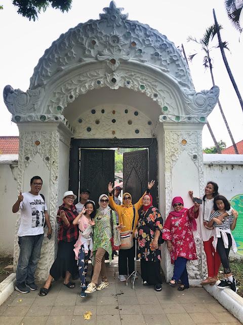 one of the gates at Kasepuhan Palace, Cirebon