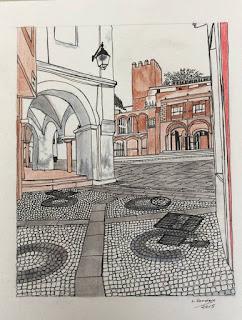 calle Moreno Zancudo esquina  con la Plaza Alta - Badajoz