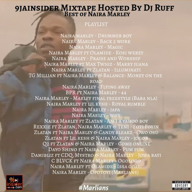 [MIXTAPE] 9jainsider Mixtape (Best Of Naira Marley) Hosted by Dj Ruff - www.mp3made.com.ng
