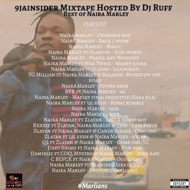 [MIXTAPE] 9jainsider Mixtape (Best Of Naira Marley) Hosted by Dj Ruff - www.mp3made.com.ng