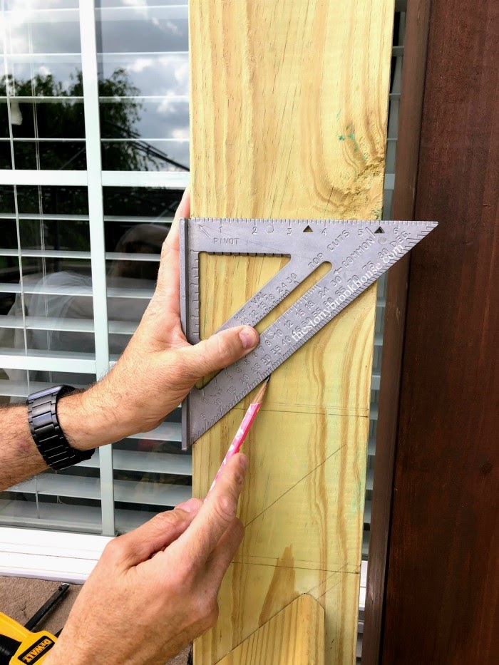measuring angle for privacy screen boards