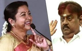 Radhika breaks secret about Vijayakanth beatings