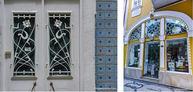 Arte Nova nas fachadas de Aveiro, Portugal
