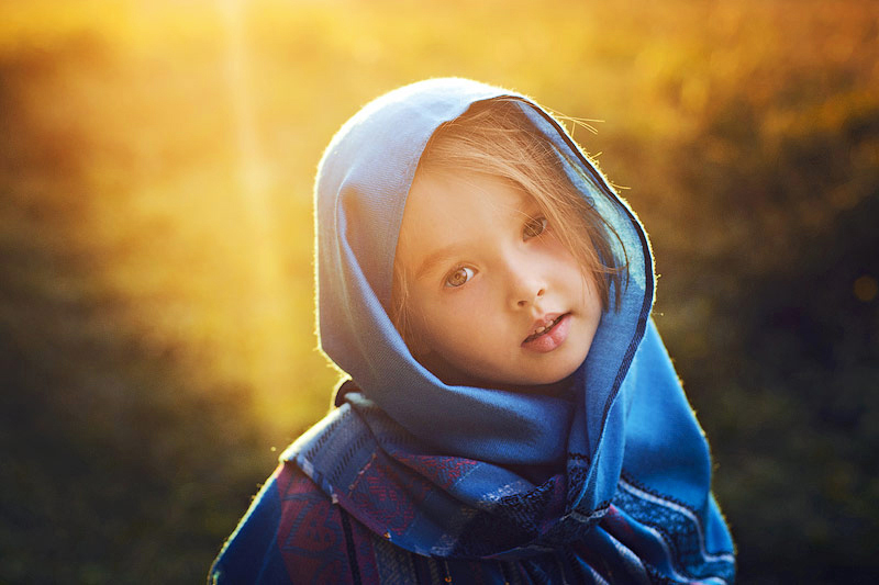 Cute Child Girl with Dupatta