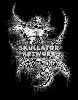 Blasting of Death Mediazine - Skullator Artwork
