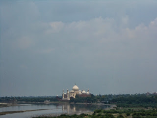 Taj Mahal view from Agra Fort