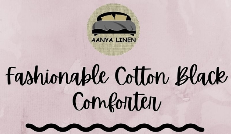 Fashionable Cotton Black Comforter #infographic