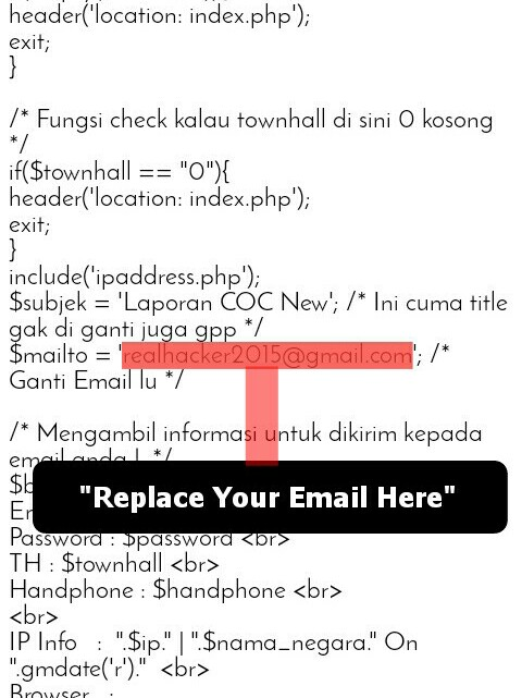 Clash Of Clans (COC) Phishing Script Free Download
