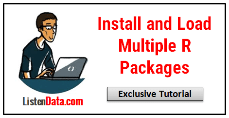 Install multiple R Packages