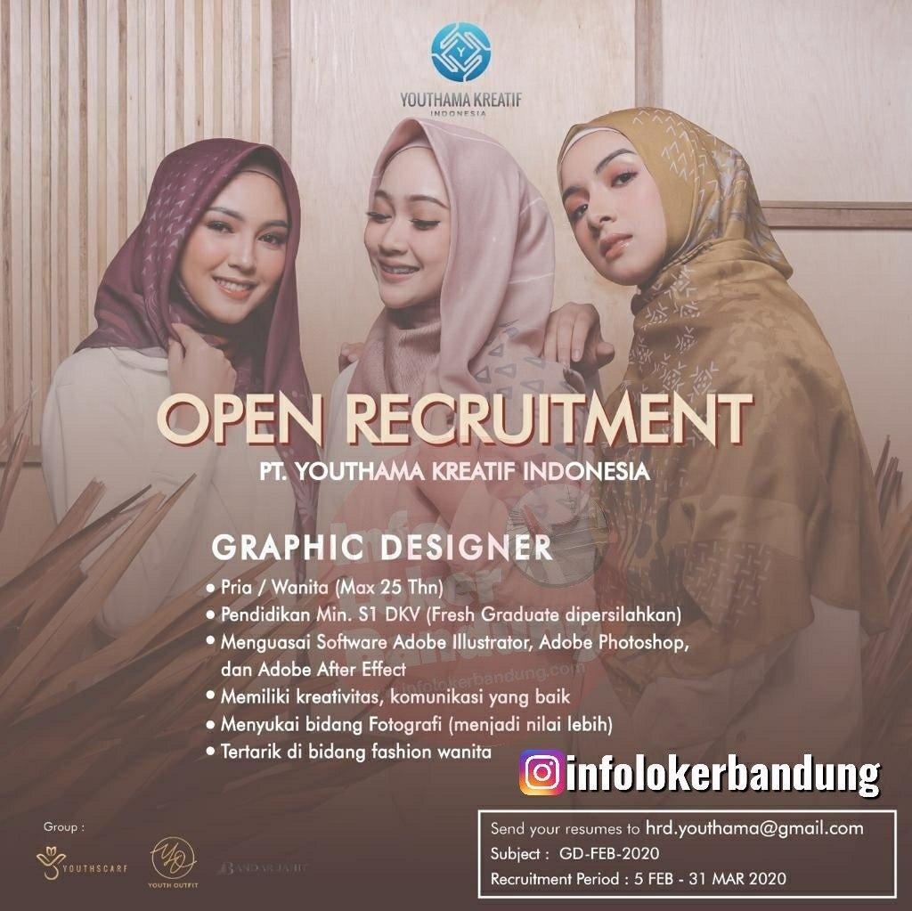 Lowongan Kerja PT. Youthama Kreatif Indonesia Bandung Februari 2020