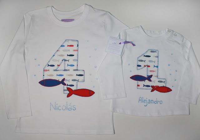 camisetas de cumpleaños para dos hermanos