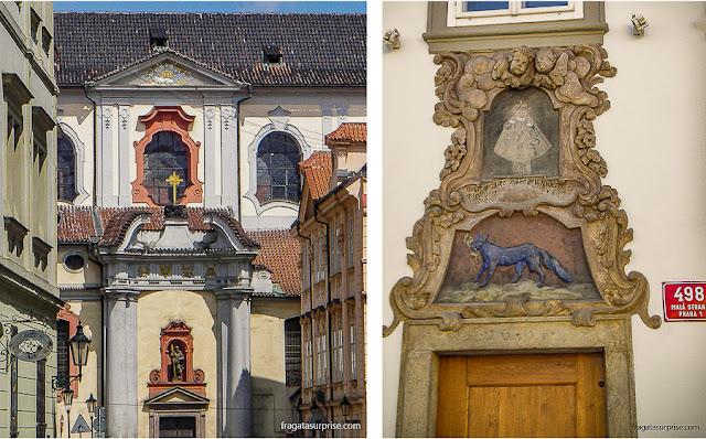 Decoração barroca de edifícios de Mala Strána, Praga