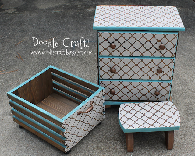 Custom DIY Stenciling and Staining furniture!