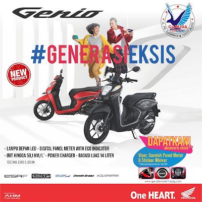 harga sepeda motor honda Genio terbaru