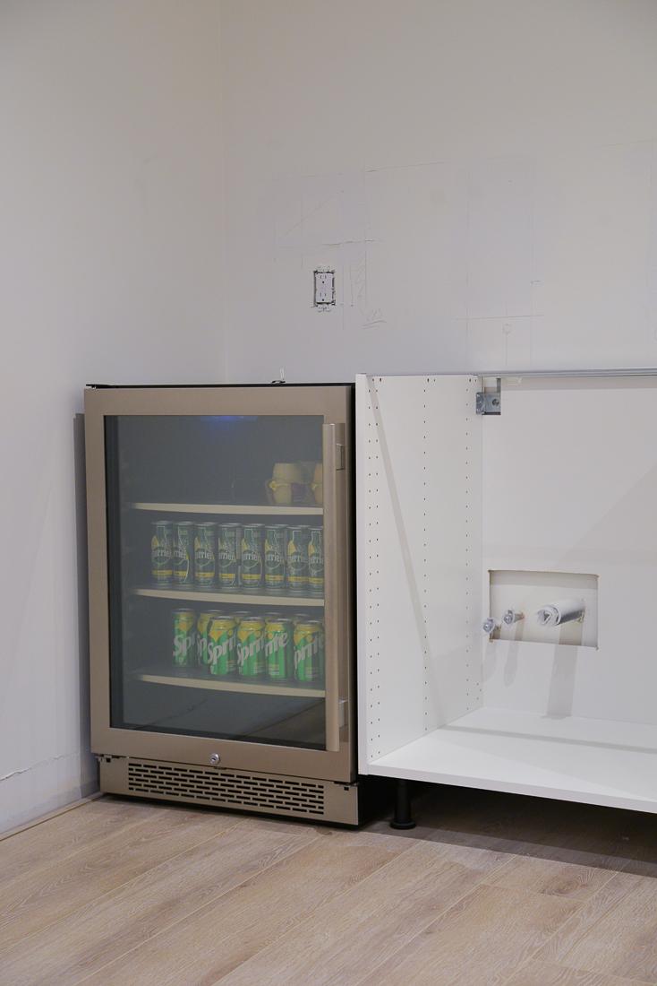 """avallon 24"""" beverage center, basement kitchen fridge, drinks fridge, build.com drinks fridge"""