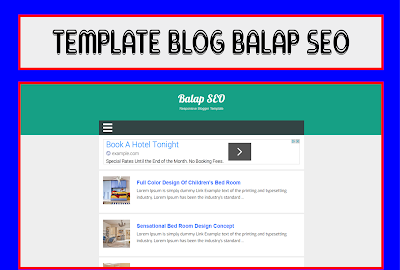 Balap Seo Blogger Template Responsive Free Download