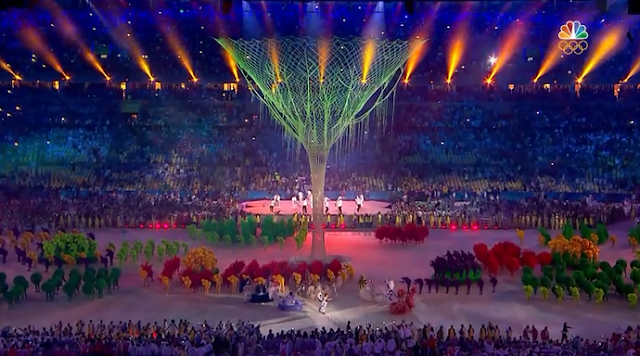 Tree of lights party Rio 2016 Olympic Games Closing Ceremony