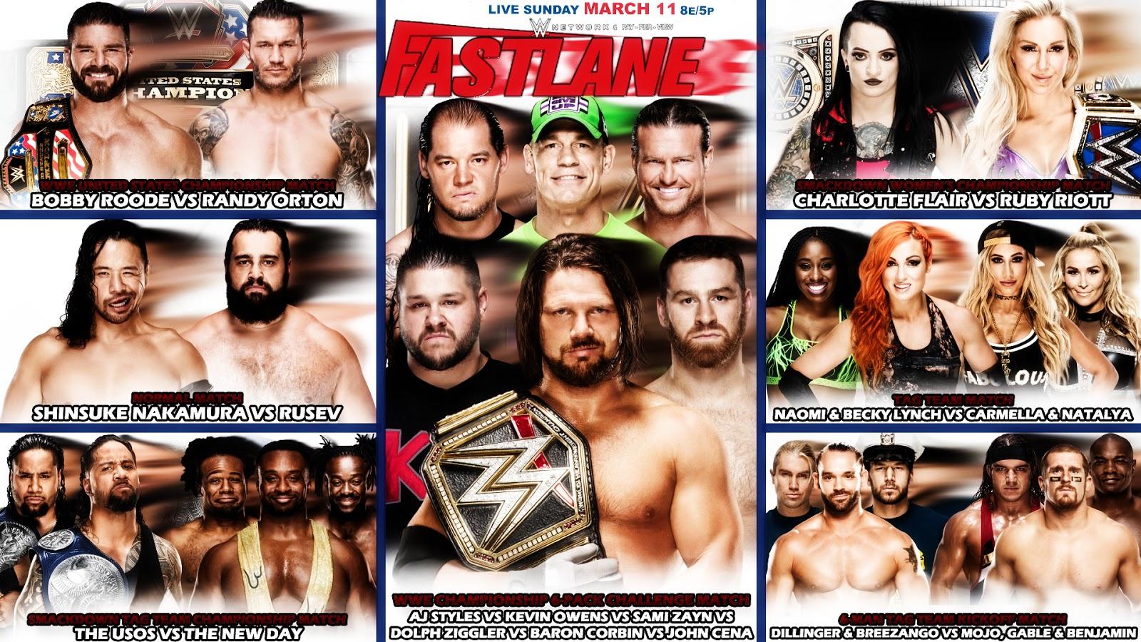 WWE Fastlane 2018 | WWE Match Cards Wallpaper