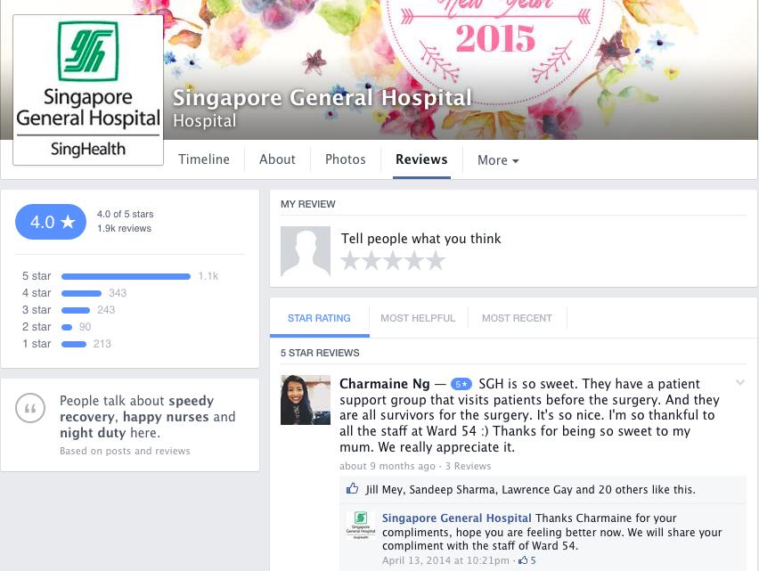 Singapore General Hospital (SGH) Reviews