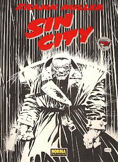 Portada del cómic Sin City de Frank Miller