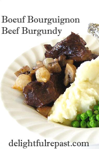 Boeuf Bourguignon - Beef Burgundy (a la Julia Child) / www.delightfulrepast.com