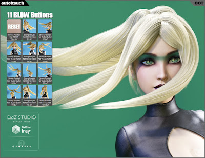 Strong Ponytail Stylized Hair for Genesis 3 Female