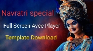 Full screen Avee player template download || Coming soon navratri status Welcome Navratri 2019 (garb