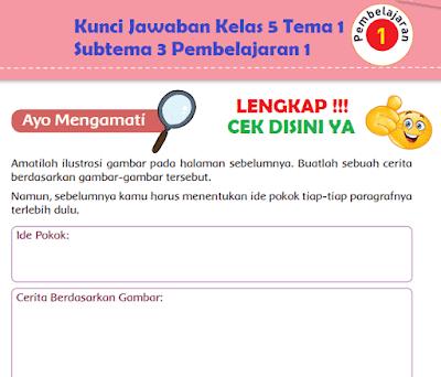 Kunci Jawaban Kelas 5 Tema 1 Subtema 3 Pembelajaran 1 www.simplenews.me