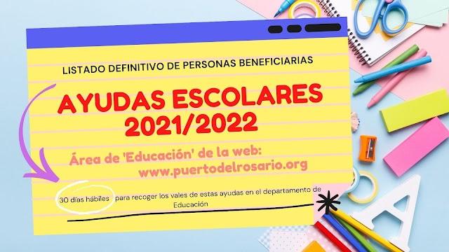 Fuerteventura.- Puerto del Rosario publica la lista definitiva de las ayudas escolares 2021/2022