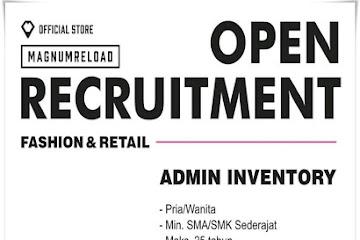 Lowongan Kerja Admin Inventory Magnum Reload Bandung