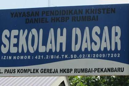 Lowongan Kerja Yayasan Pendidikan Daniel HKBP Rumbai Pekanbaru September 2018