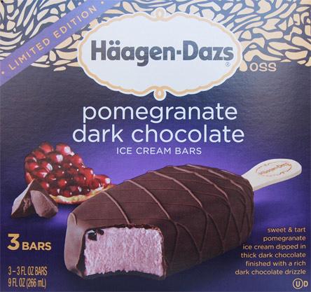 Haagen Dazs Pomegranate And Dark Chocolate