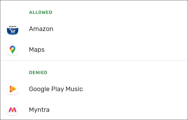 إدارة الوصول إلى إذن على Android