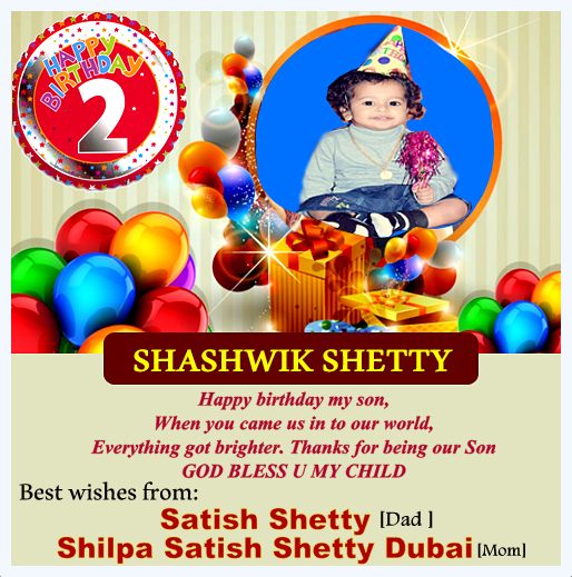 Happy Birthday Shaswik Shetty