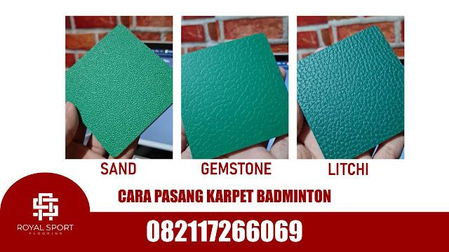 Jasa Pasang Karpet Badminton