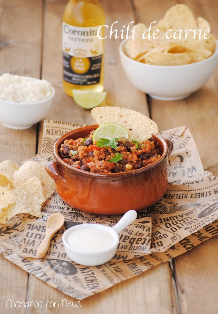 Chili de carne-tex mex