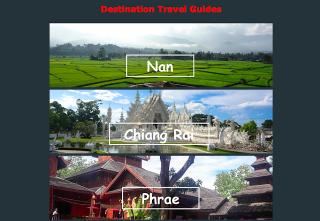 Traveling to Chiang Rai, Phayao, Phrae, Nan or Loei in Thailand