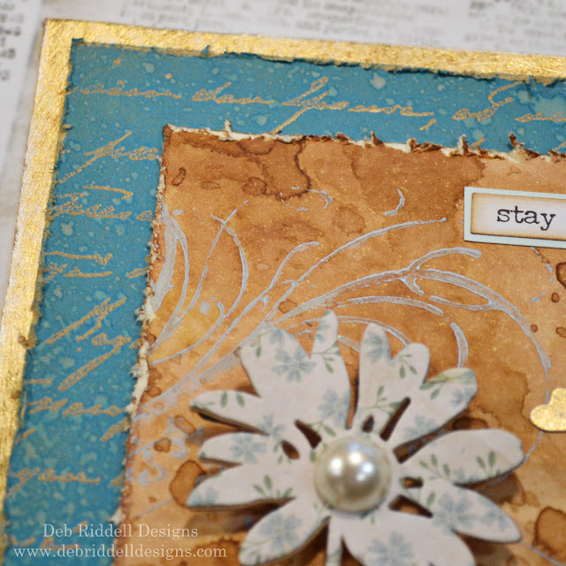 Stay Simple Mixed Media Plaque Detail