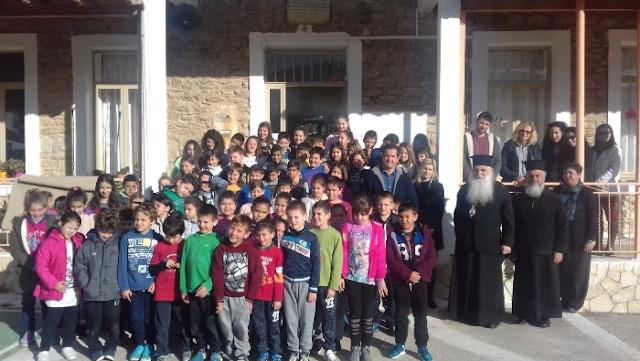 Επίσκεψη του Μητροπολίτη Αργολίδας κ. Νεκταρίου στο Δημοτικό Σχολείο Σκαφιδακίου