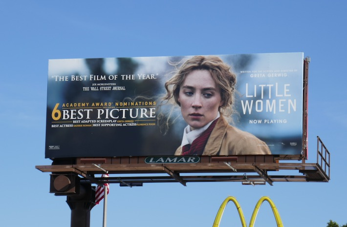 Little Women Oscar nominee billboard