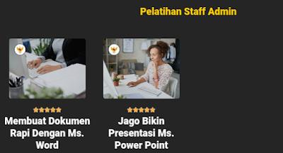 pelatihan prakerja kategori staff admin di course net