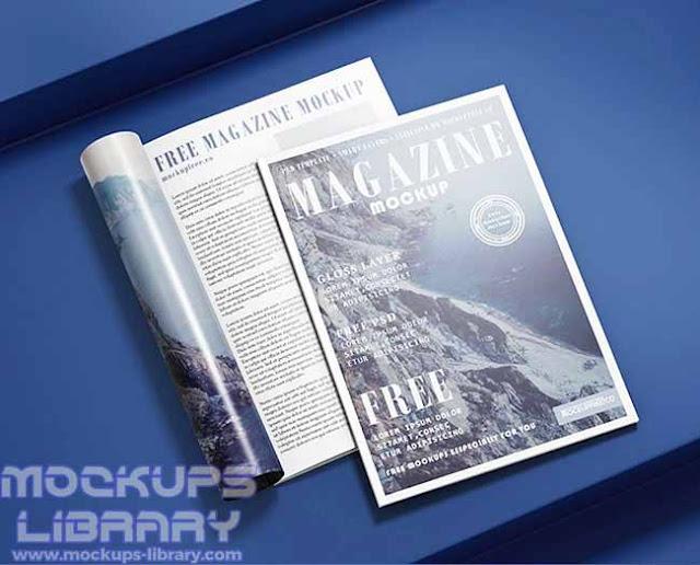 free magazine mockup psd 2