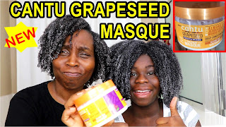 Cantu Grapeseed Strengthening Treatment Masque| Natural Hair | DiscoveringNatural