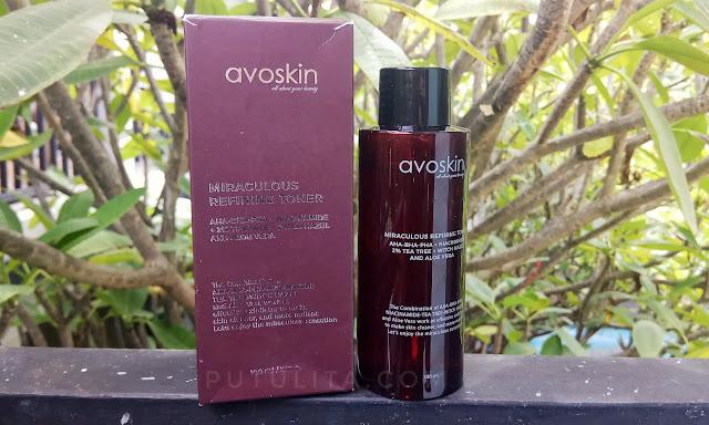 [REVIEW] Avoskin Miraculous Refining Toner, Pertama kali menggunakan Chemical Exfoliate Toner
