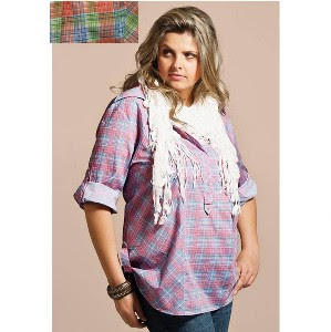 Moda GG feminina: camisa xadrez gordinhas