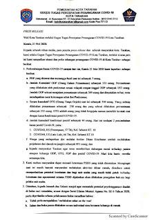 Press Release COVID-19 Tarakan 21 Mei 2020 - Tarakan Info